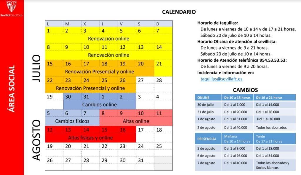 Calendario Sevilla Fc 2020.Los Precios De Los Abonos Del Sevilla Para La 19 20 Estadio Deportivo