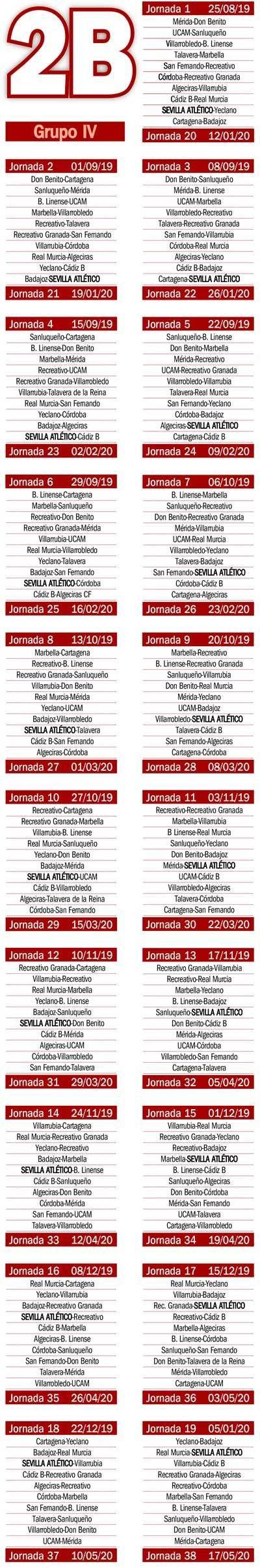 Calendario Segunda B.El Calendario Del Grupo Iv De Segunda B Estadio Deportivo
