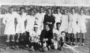Plantilla que logró el primer ascenso a Primera en 1934