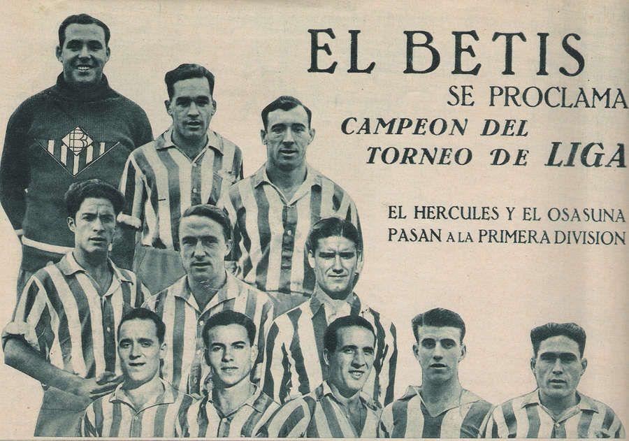 Real Betis campeón de Liga